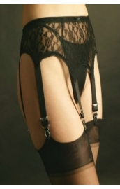 NDL55 6 strap all lace suspender belt